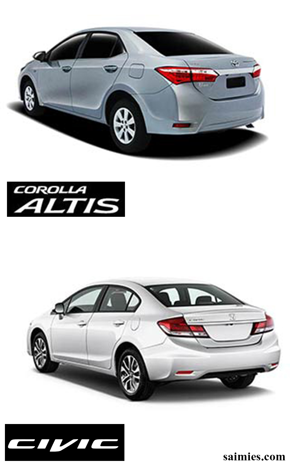 toyota corolla altis vs honda civic saimies tech. Black Bedroom Furniture Sets. Home Design Ideas